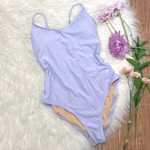 J. Crew Swim - J. Crew Lilac Ballet Open Back One-Piece Swimsuit